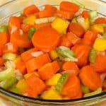 Sweet carrot and celery salad in a bowl