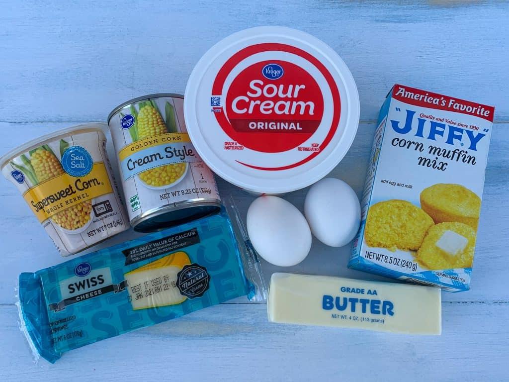 7 simple ingredients needed to make sweet corn spoon bread