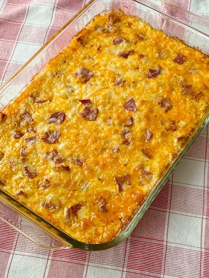 Full baking dish or warm Reuben dip