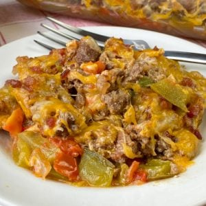 Keto Ground Beef and Bacon Casserole