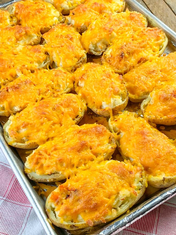 Ultimate twice baked potatoes that are rich and creamy