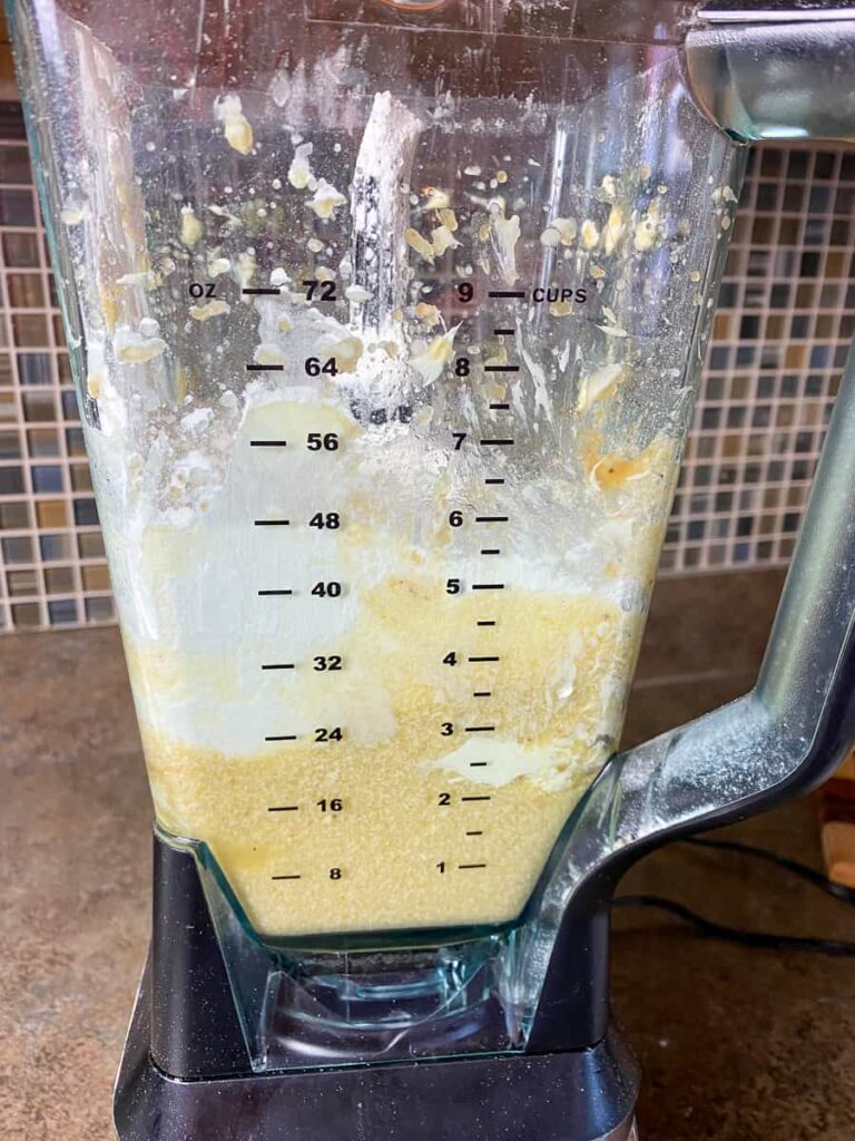 Making banana nut muffins in a blender