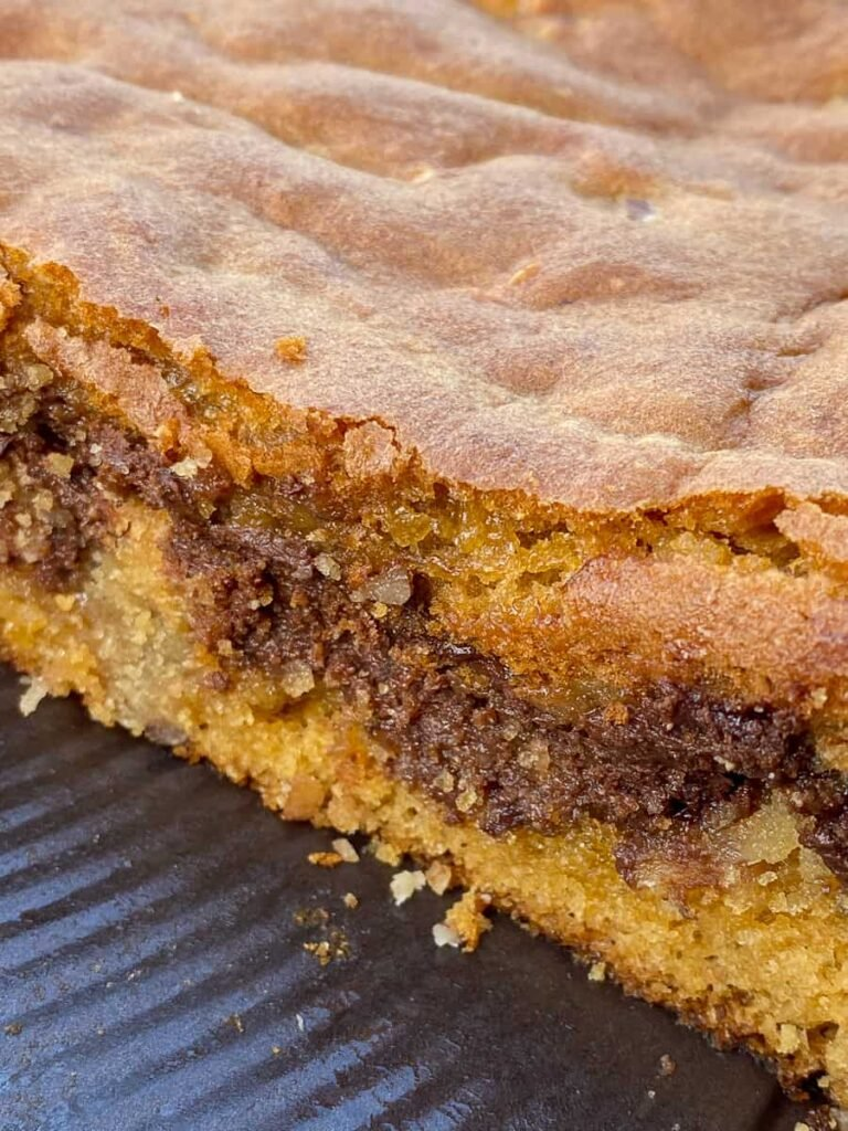 Three layers in an easy butterscotch cookie bar