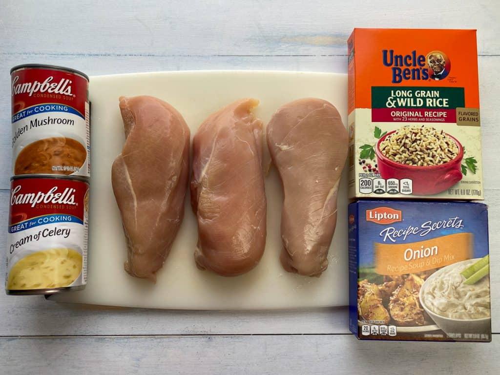 5 simple ingredients for no-peek chicken