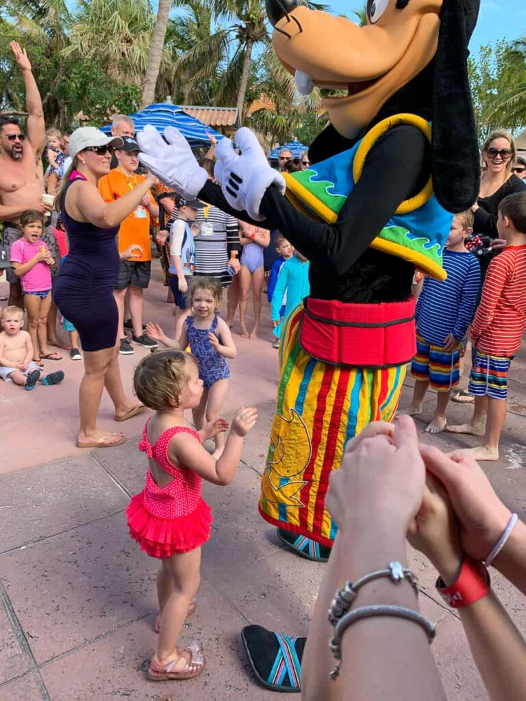 Disney dance party with Goofy and other characters