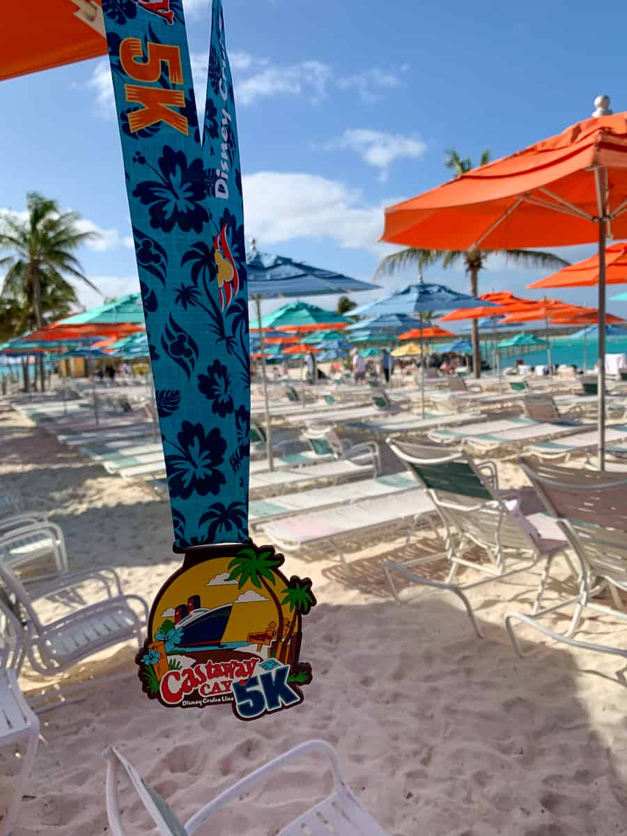 5K medal from January 2020 Castaway Cay 5k