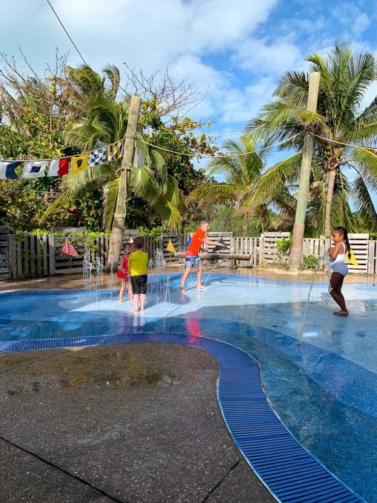 Splash pad in the Bahamas
