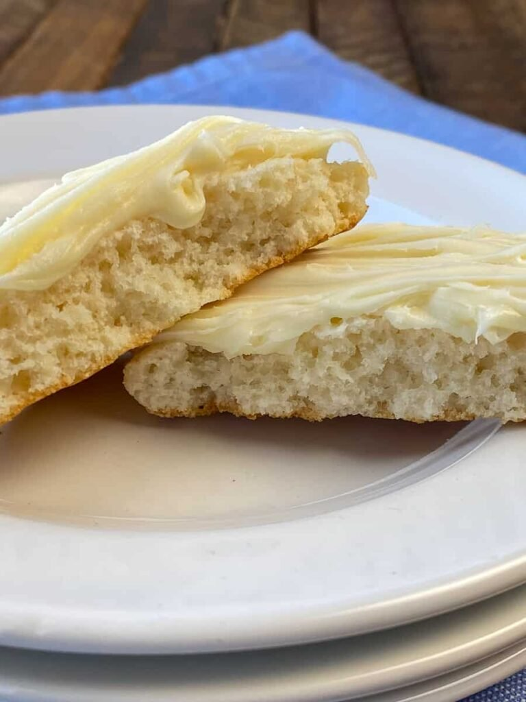 Center of moist and fluffy cottage cheese cookie