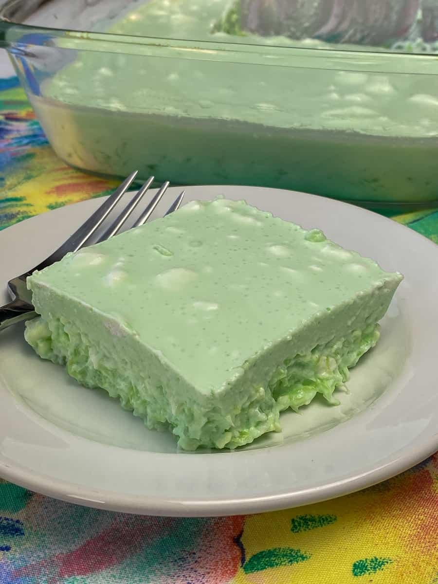 LIME JELLO SALAD by Plowing Through Life - WEEKEND POTLUCK 497