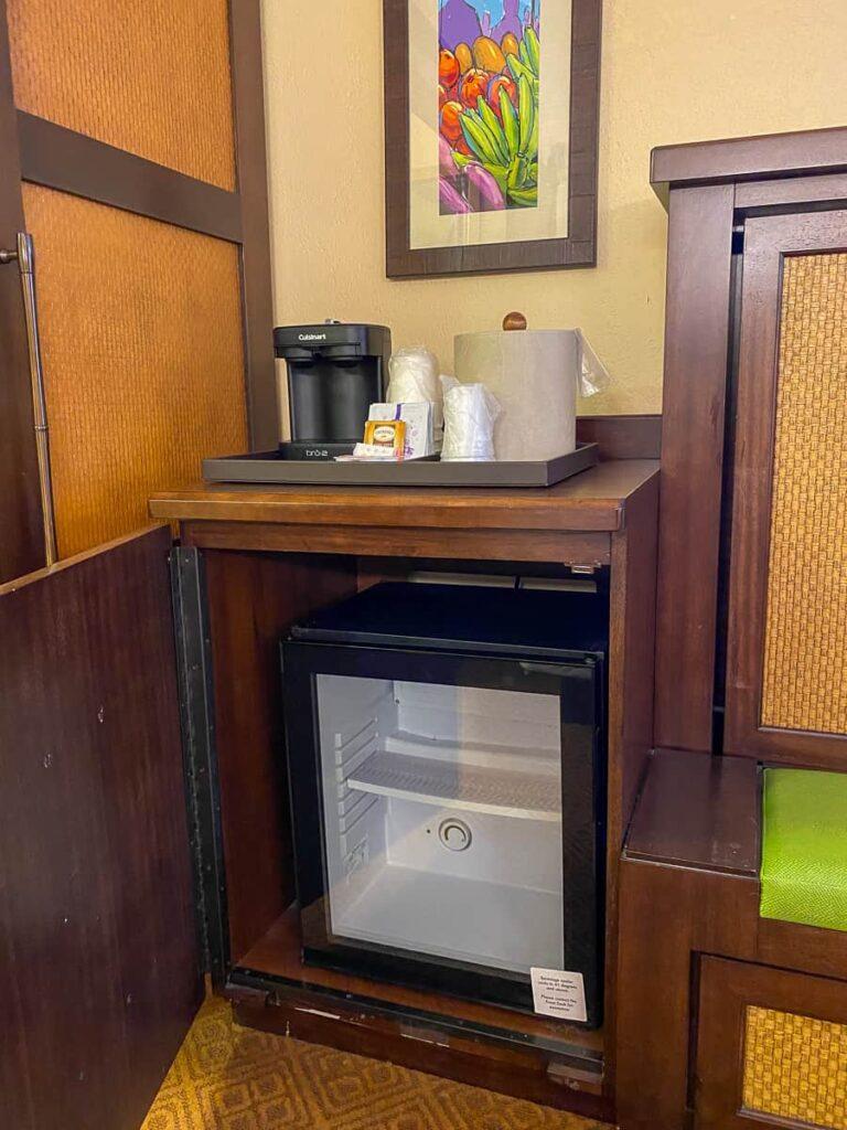 Mini refrigerator at Caribbean Beach Resort