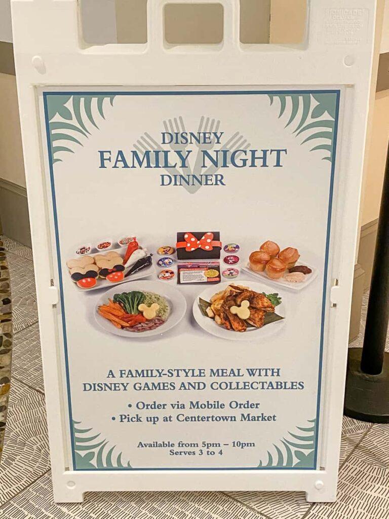 Special offer for Disney Family Night dinner for 3 to 4