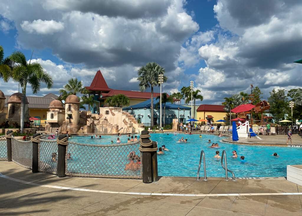 Main pool called Fuentes del Morro Pool at Disney's Caribbean Beach