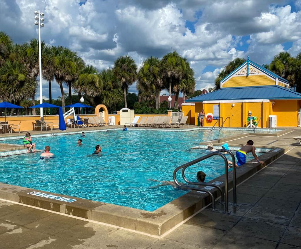 Jamaica village pool at Disney