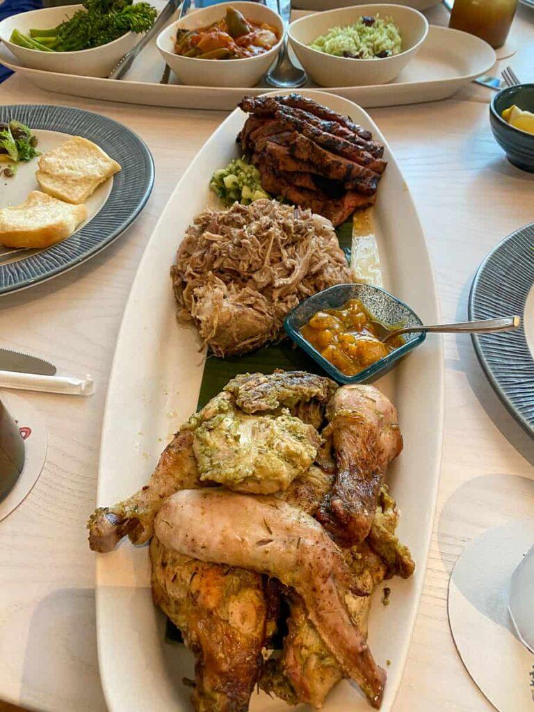 Brisket, pulled pork and chicken from Sebastian's Taste of the Caribbean