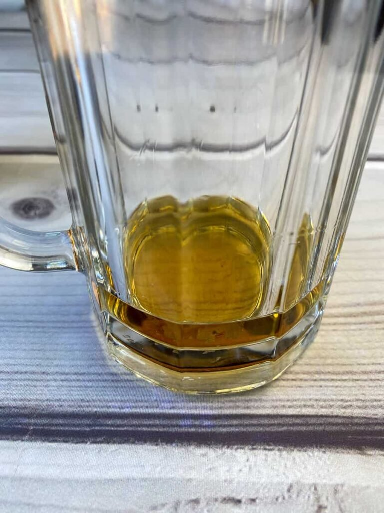 Shot of whiskey in a glass