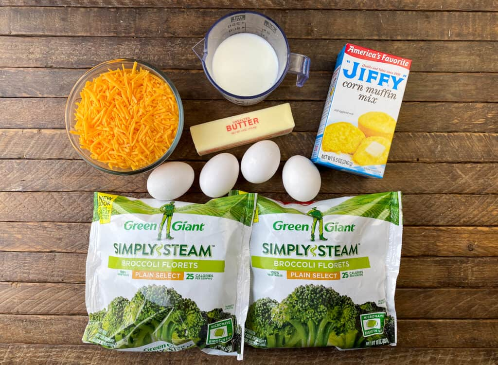 Six simple ingredients to make a broccoli cornbread recipe