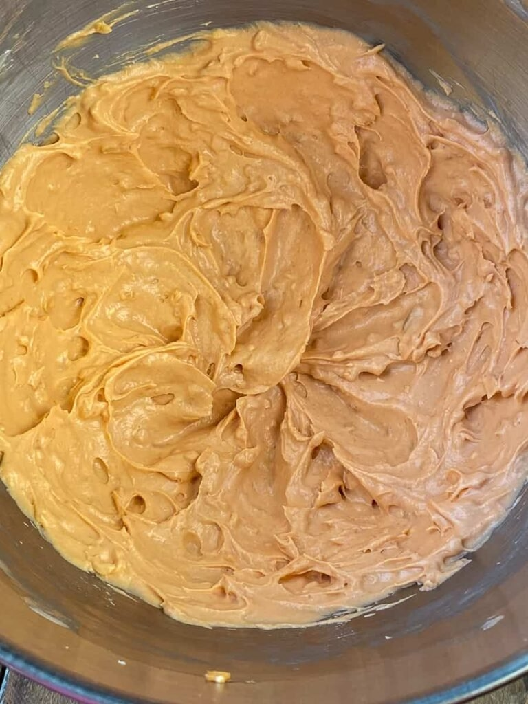 Cream cheese based dip, whipped together in mixing bowl