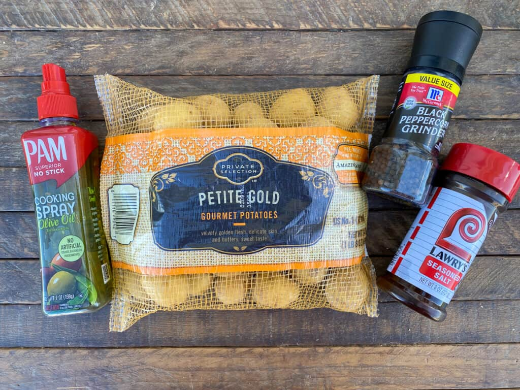 Ingredients needed to make baby gold potato recipe