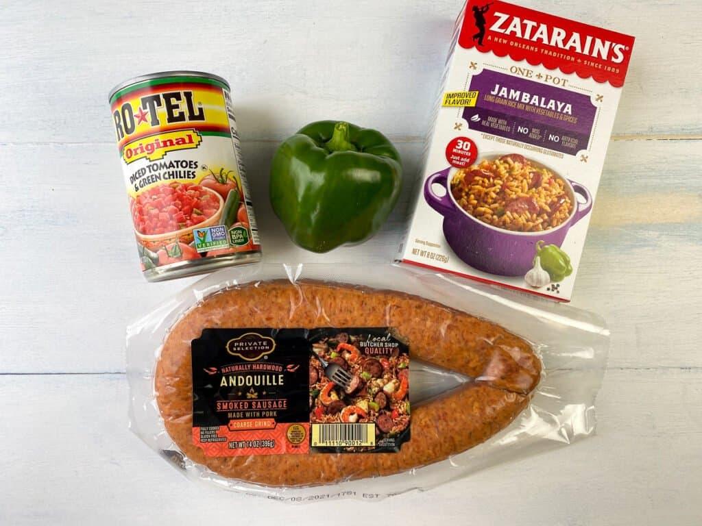 Easy sausage jambalaya ingredients